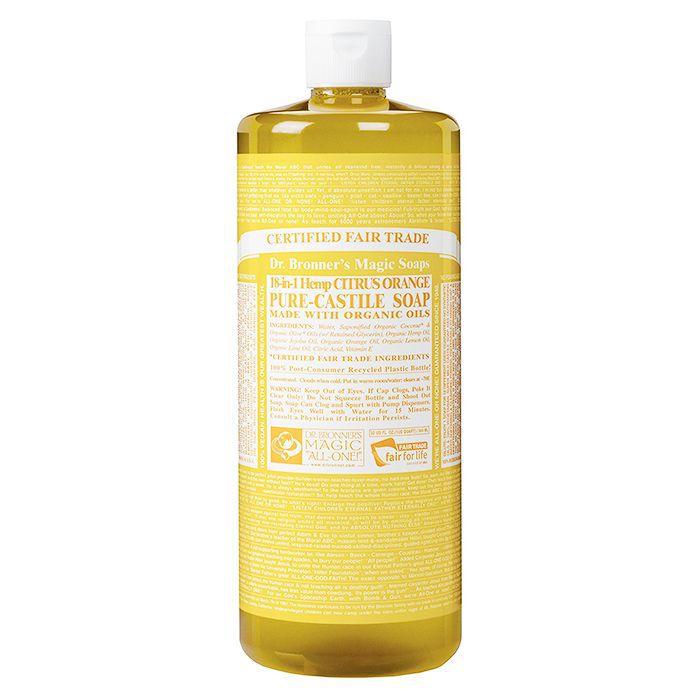 Eco-friendly beauty products: Dr Bronner's Organic Citrus Castile Liquid Soap
