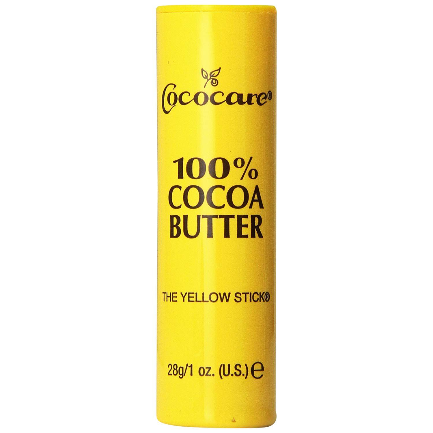 yellow stick of cocoa butter