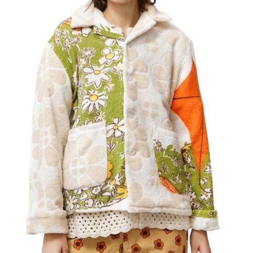 Bode Duo Towel Patchwork Daisies Jacket