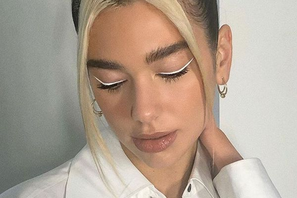 dua lipa white eyeliner