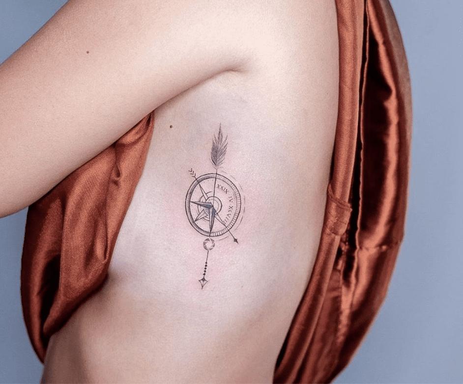 30 Gorgeous Compass Tattoo Ideas