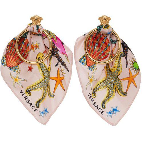 Versace Pink Trésor De La Mer Scarf Earrings