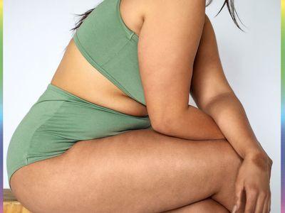 woman in green loungewear