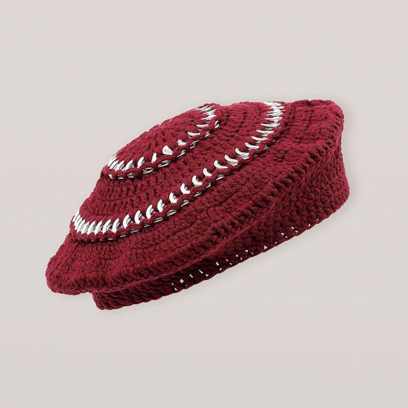 Ganni Cotton Knit Beret