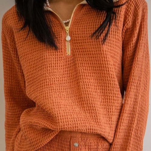 Waffle 1/2 Zip Pullover ($234)