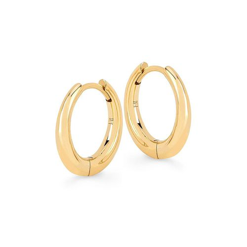 Baby Solid Crescent Unity Hoops ($850)
