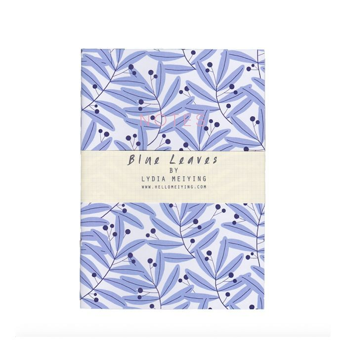 eco products: Lydia Meiying A6 Mini Notebook With Blue Leaves