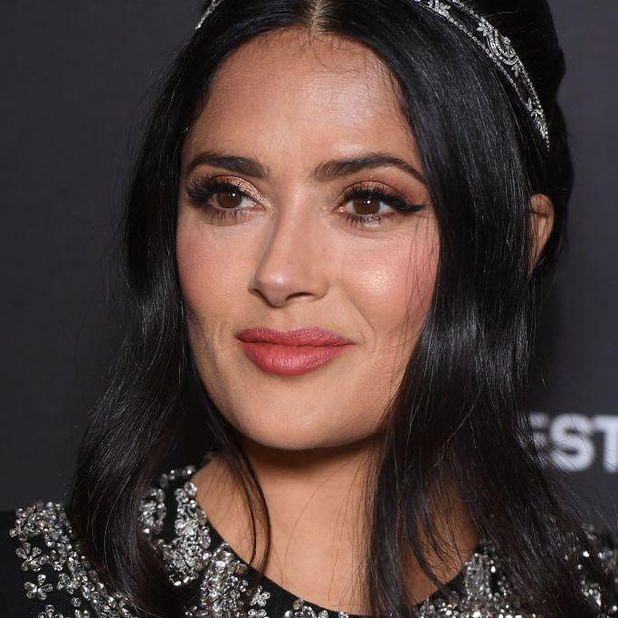 Salma Hayek modern bouffant with headband
