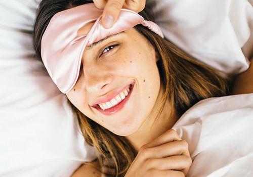 woman with eye sleeping mask