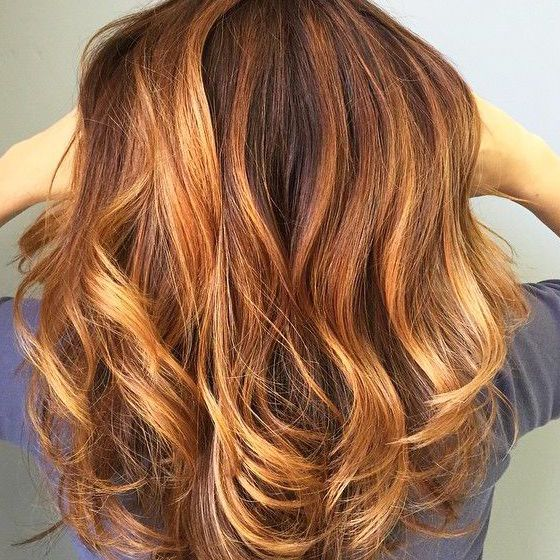 Sunset copper hair