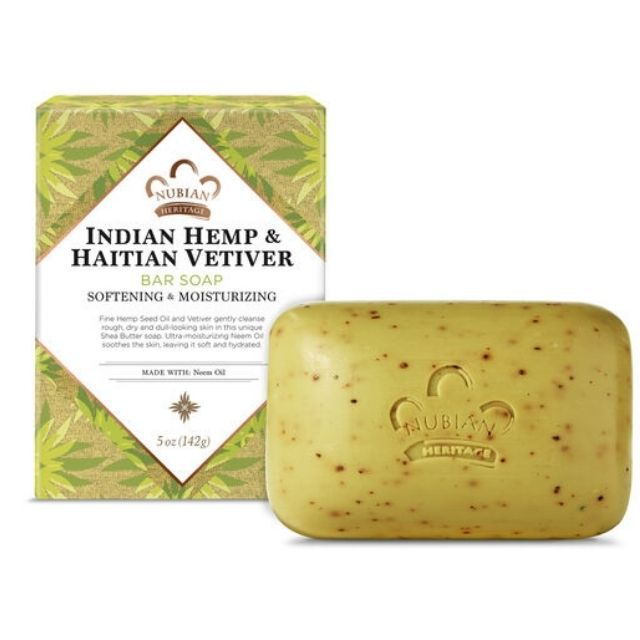 Nubian Heritage Soap Bar Indian Hemp and Haitian Vetiver