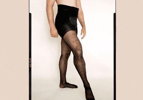 Men wearing tights
