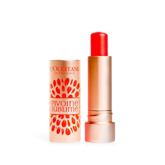 best lip balm with SPF: L'Occitane Pivoine Sublime Tinted Lip Balm SPF 25
