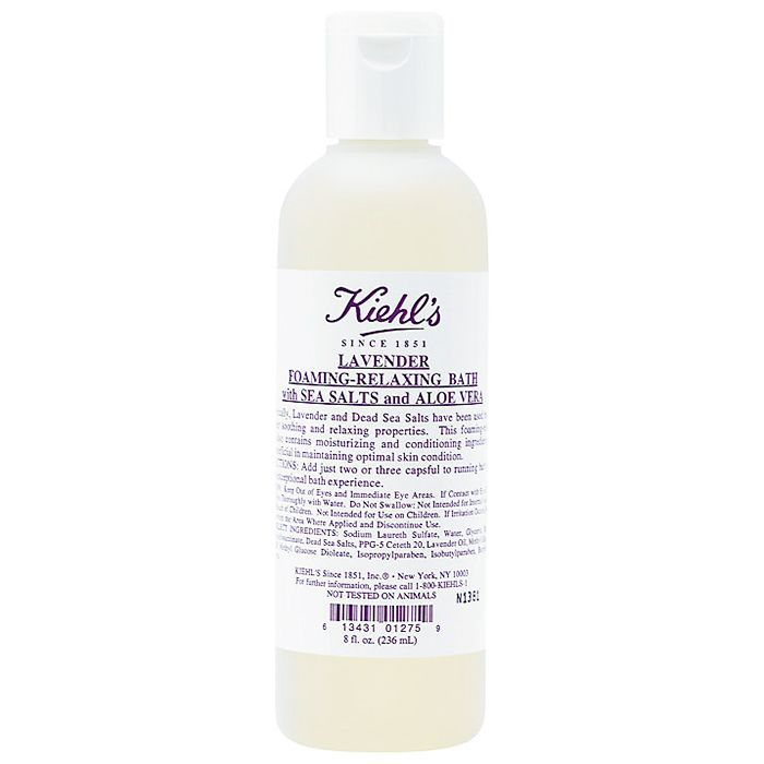 How to take a bath: Kiehl's Lavender Foaming-Relaxing Bath