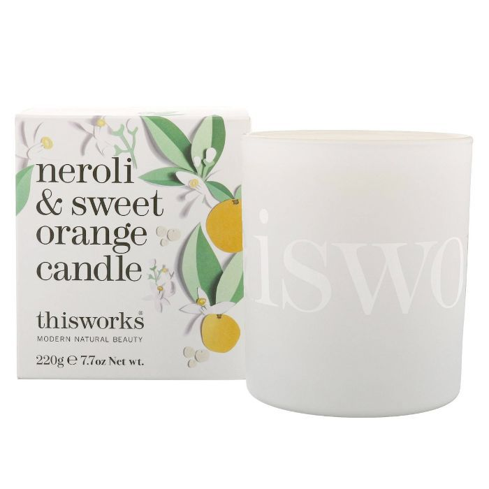 best summer scented candles: This Works Neroli & Sweet Orange Candle