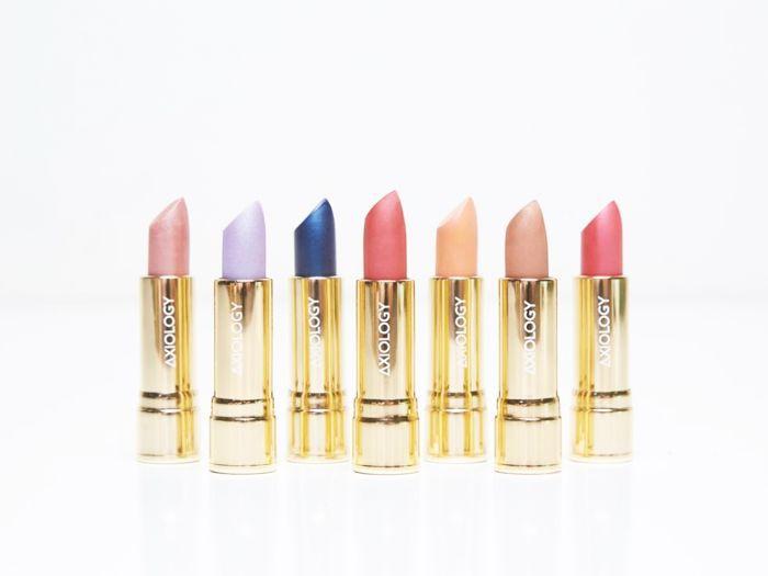vegan makeup: line of Axiology lipsticks