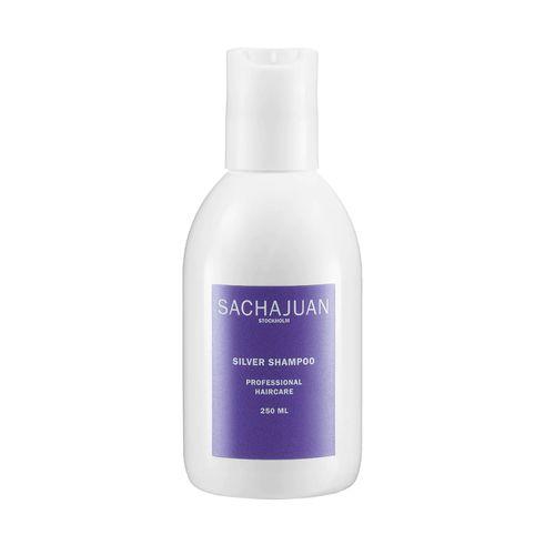 White bottle of SACHAJUAN Silver Shampoo on a white background.