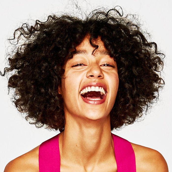 Yu Be Cream Review: Woman laughing Zara model