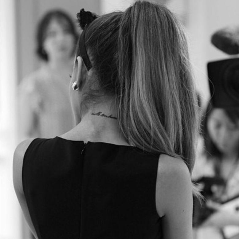 Ariana Grande neck tattoo