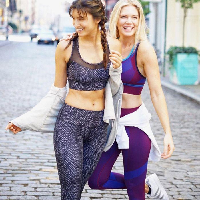 Two women in athleisure wear