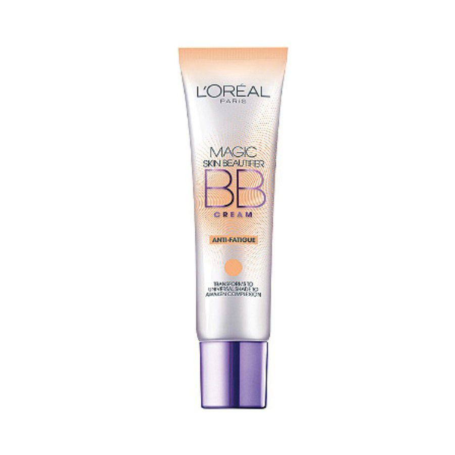 Tube of BB cream on a white background.