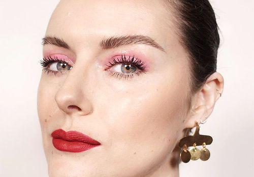 katie jane hughes with pink eyeshadow