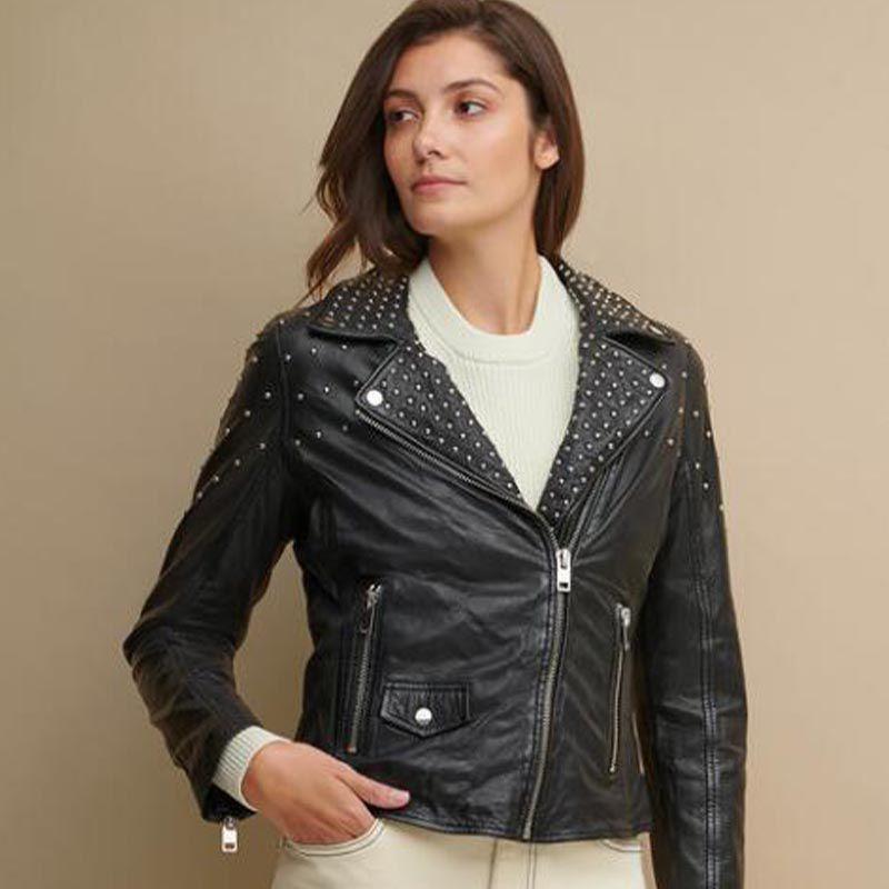 Amanda Asymmetrical Leather Jacket
