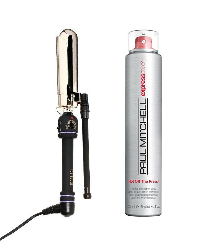 Paul Mitchell's Express Style Hot Off the Press and curling iron