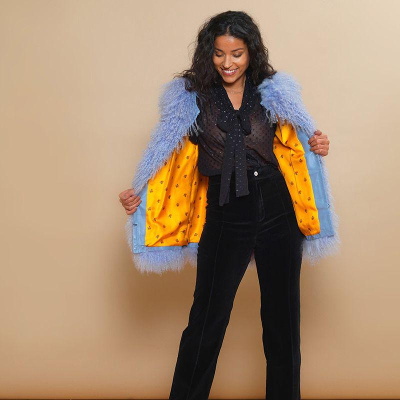 Candice Lilac Wool Jacket