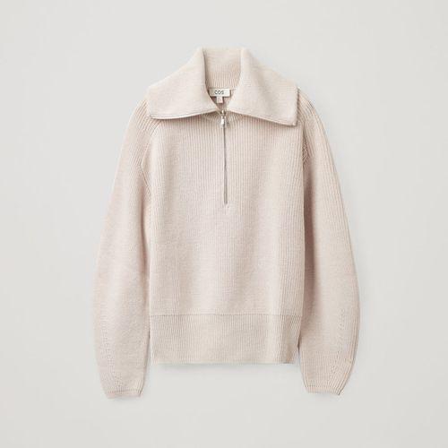 Cos Zip Knit Sweater