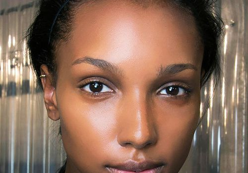 Gorgeous African American woman with glowing skin