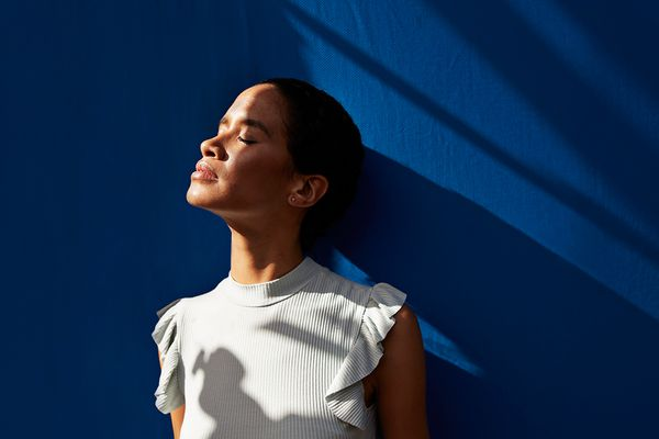 person breathing in the sun