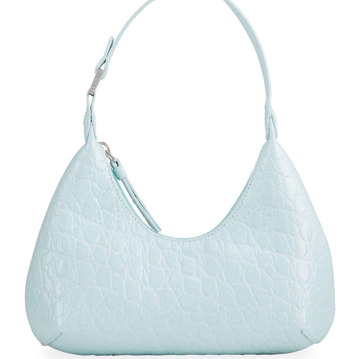 Byfar Baby Amber Moc-Croc Shoulder Bag