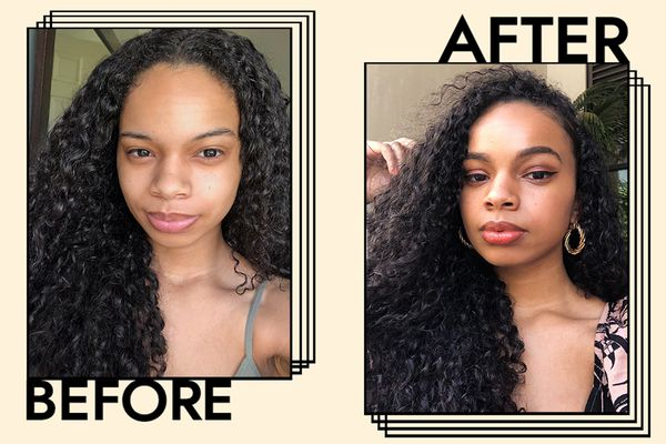 Before and after selfie