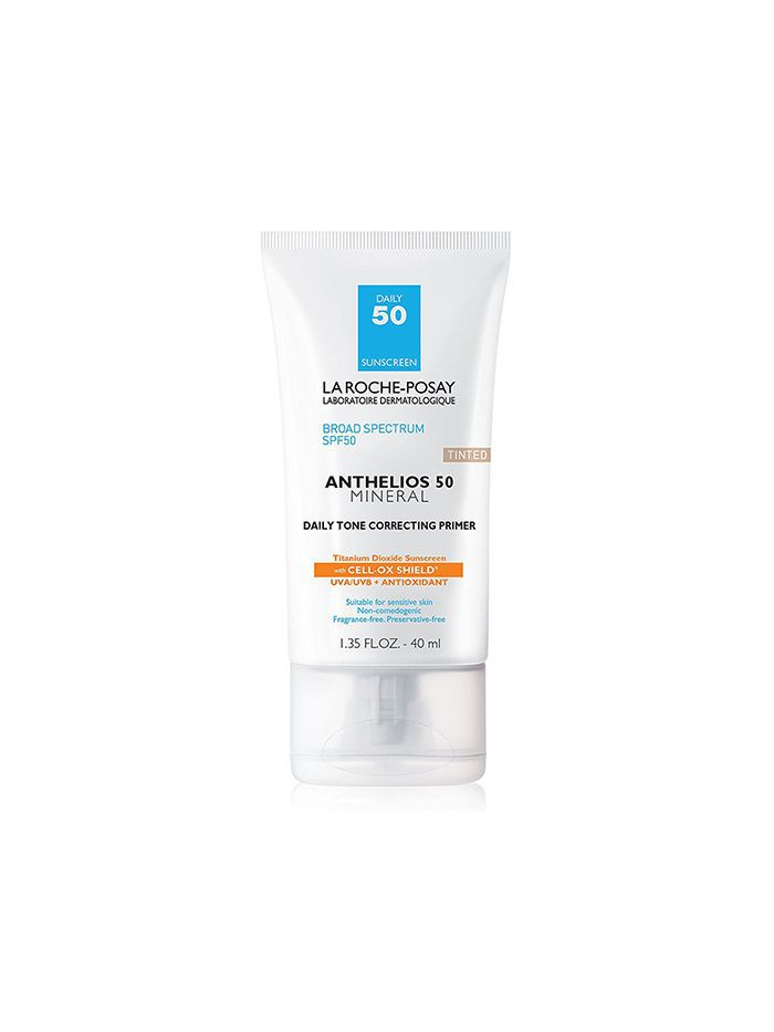 Anthelios 50 Daily Tone-Correcting Facial Primer with Mineral Sunscreen SPF 50 for Sensitive Skin, 1.35 Fl. Oz.