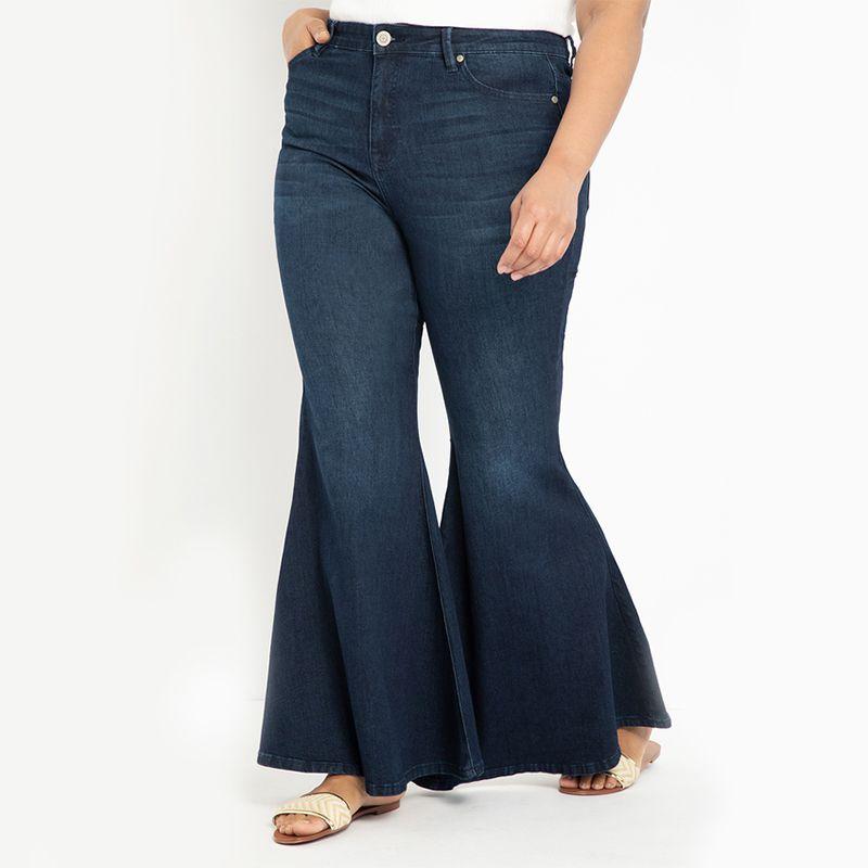 Classic Fit Bell Bottom Flare Leg Jean