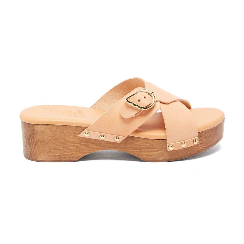 Marilisa Crossover-Strap Leather Clogs