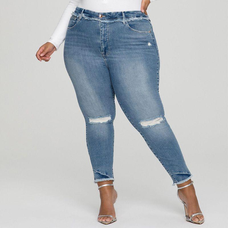 Good American Good Legs Under Fray Waistband