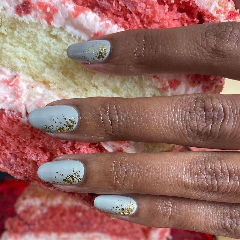 Simple Nail Designs Sparkle