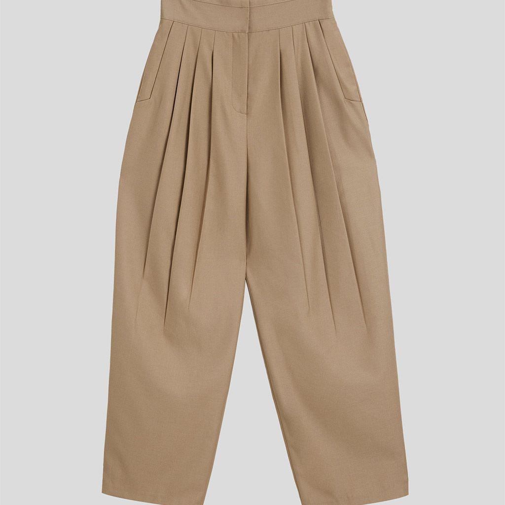 Lattelier High Waisted Pleated Pants