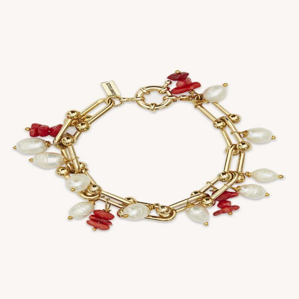 Rebecca Minkoff Pearl Link Chain Bracelet