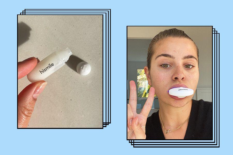 Hismile PAP+ Teeth Whitening Kit Process