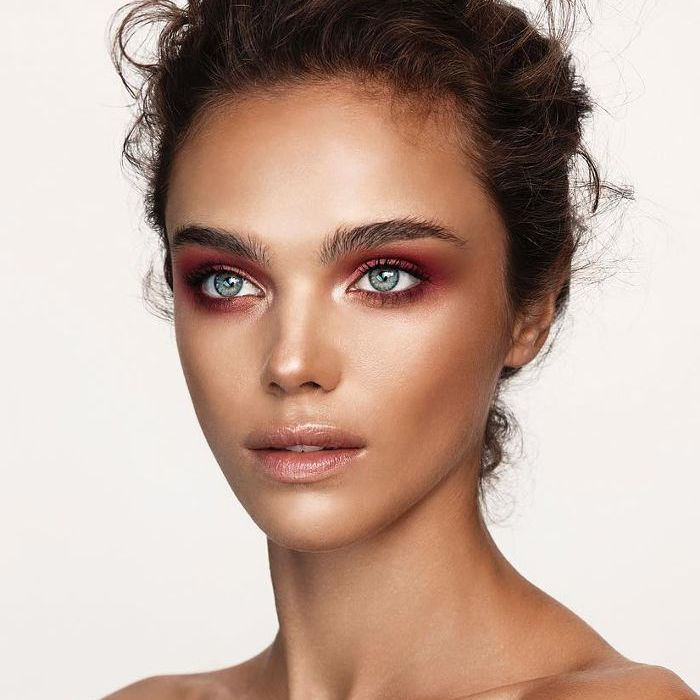 Model with makeup