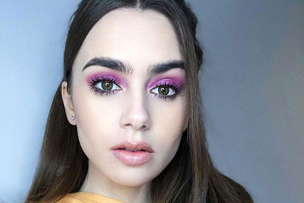 how to wear purple makeup