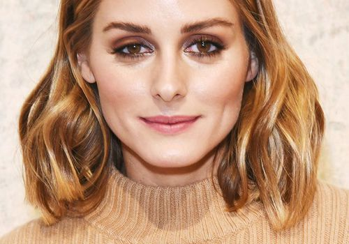 long bob: Olivia Palermo with centre parted long bob