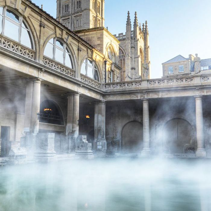 Steaming rising from The Great Bath