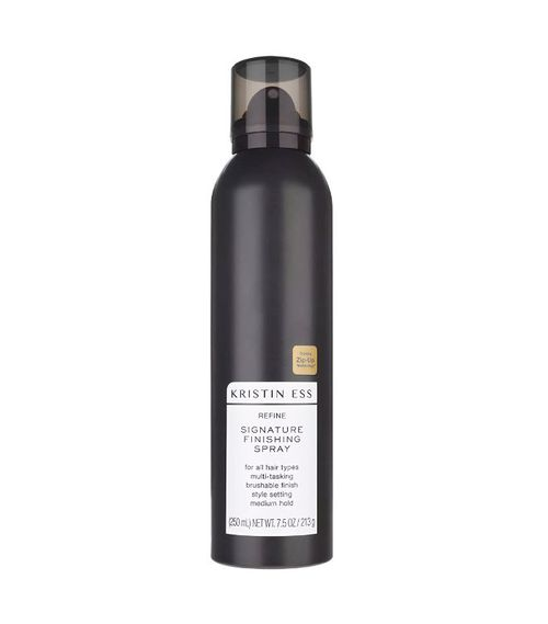 how to curl hair with straighteners: Kristin Ess Hair Refine Signature Finishing Spray
