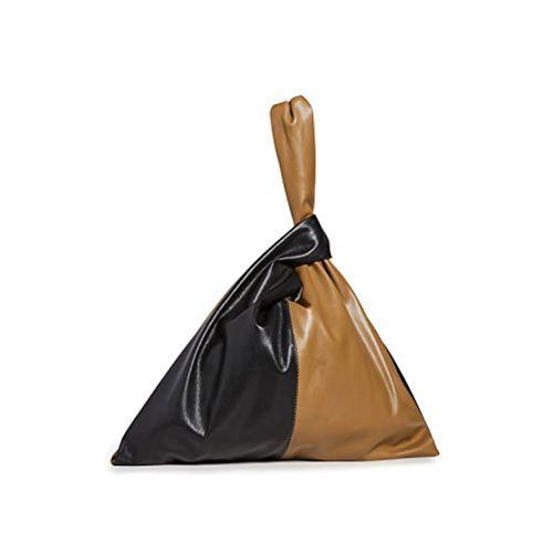 Fall Handbag Shapes Nanushka Jen Duo-Tone Color Block. Wristlet Vegan Leather Bag