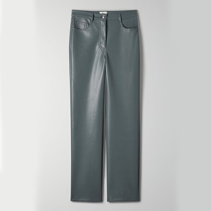 High-Rise Vegan Leather Pant