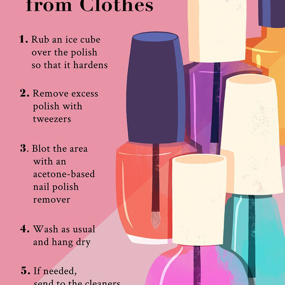 How to Get Nail Polish Out of Clothes in 4 Steps